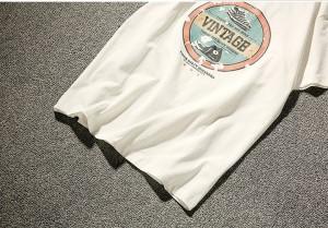 3000円以上送料無料 Tシャツ メンズ トップス シャツ プリント ロゴ シンプル カジュアル 大きいサイズ ゆったり ヴィンテージ風