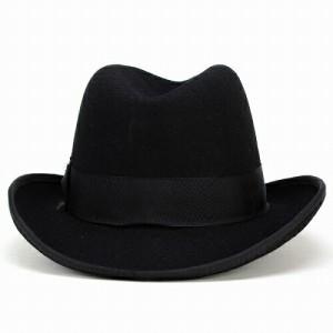 ハット ホンブルグハット/ステイシーアダムス 中折れ帽/インポート フォーマル/ドレッシー 帽子/ブラック