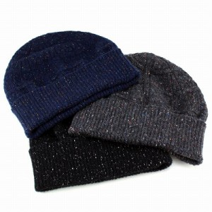 ニット帽 メンズ 帽子 レディース ニットキャップ ニットワッチ ネップ 国産 カジュアル アンゴラ混紡 ネイビー 紺