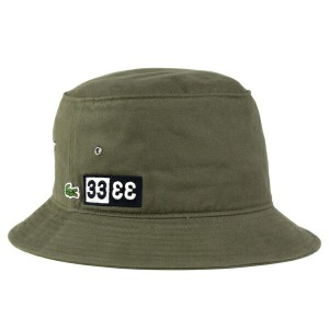 帽子 lacoste ハット メンズ ラコステ 春夏 バケットハット メンズ サファリハット カーキ