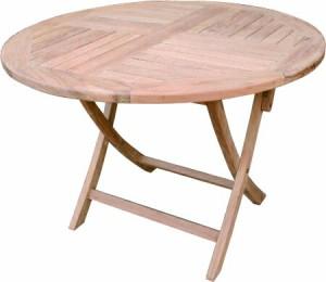 ガーデンテーブル 折りたたみテーブル カフェテーブル 折りたたみ丸テーブル チーク材 ガーデンファニチャー 完成品