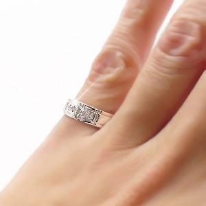 k18 ダイヤモンドリング 0.07ct クロス 十字架 18金ゴールド 小指 ピンキーリング ミディリング ファランジリング 指輪 レディース【送料