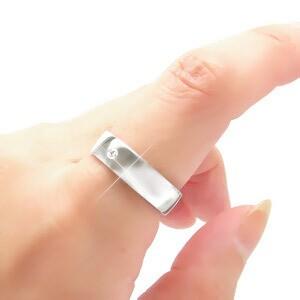 【送料無料】ダイヤモンドリング プラチナ900(PT900)0.05ct ソリティア 平打ち オリジナルリング 無垢 結婚指輪 L-6.0mm 小指 ピンキ