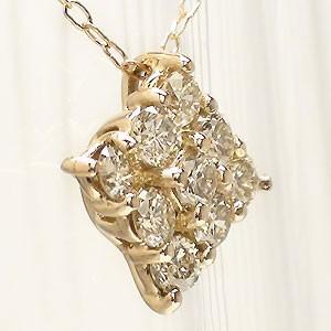 【送料無料】K18ピンクゴールドダイヤモンド0.30ctペンダント ネックレス【コンビニ受取対応商品】  ホワイトデー プレゼント