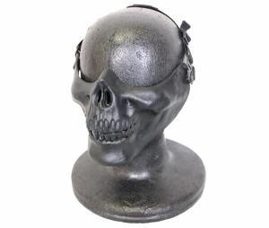 【セール特価】【セール特価】KINGRIN スカル 金属メッシュ ハーフフェイスマスク