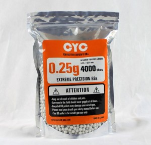 CYC精密BB弾 0.25g 4000発入(プラスチック)