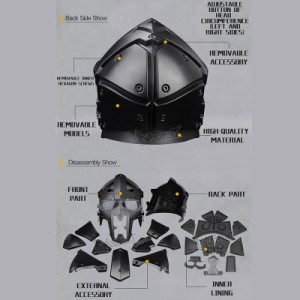 WoSporT モジュラーヘルメット ファン付 Terminator