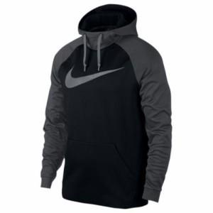 (取寄)ナイキ メンズ サーマ カラーブロック フーディ Nike Men's Therma Colorblock Hoodie Black Anthracite Cool Grey