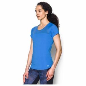 (取寄)アンダーアーマー レディース フライ バイ ショート スリーブ Tシャツ Under Armour Women's Fly By Short Sleeve T-Shirt Mako