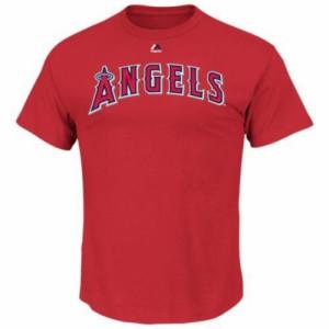 (取寄)ジョーダン メンズ マジェスティック MLB ネーム アンド ナンバー Tシャツ マイク トラウト Jordan Men's Majestic MLB Name and