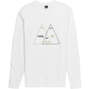 (取寄)ポーラー メンズ ベン ダイアグラム クルー トレーナー Poler Men's Venn Diagram Crew Sweatshirt White