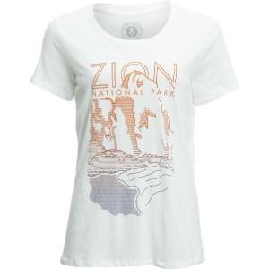 (取寄)パークスプロジェクト レディース ザイオン クリフ Tシャツ Parks Project Women Zion Cliff Short-Sleeve T-Shirt White