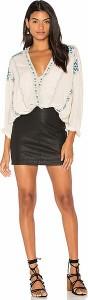 (取寄)フリーピープル レディース モダン ファム ビーガン ミニ スカート イン ブラック Free People women's Modern Femme Vegan Mini