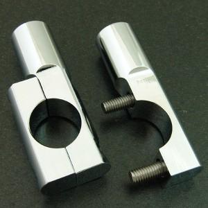 フュージョン MF02 アルミ製 メッキ ミラーホルダー 外装 カスタムパーツ