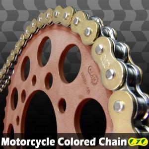 CYCバイクチェーン 525-120L ゴールド ホーネット600(S) CB400SF シャドウ600 スティード600VLX/VLS