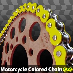 CYCバイクチェーン 525-120L イエロー GSX400E GSR600 GSX400FJ TL600 GSX400インパルス SV650S GSX400S