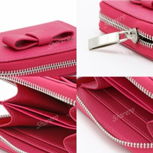 大き目リボンがかわいいshareroオリジナル 財布 ピンクの財布 コインケース 小銭入れ 小銭入れリボン かわいい財布 レディース財布 ピン