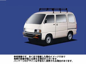 ルーフキャリア タフレック PL23 ダイハツ DAIHATSU ハイゼット / S80V S81V S82V S83V / Pシリーズ スチール×ブラック塗装