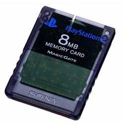 【新品★送料無料メール便】PS2周辺機器 PlayStation 2専用メモリーカード (8MB)スレートグレー ゼンブラック (輸入版)