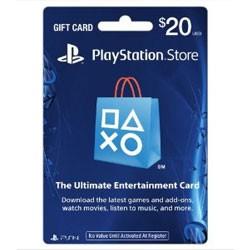 【新品★送料無料メール便】PS3 PS4 PSP VITA周辺機器 Playstation store gift card $20 (北米版)