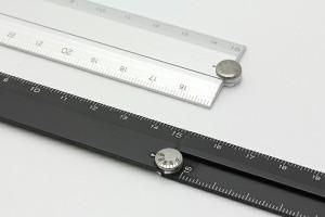 ... ミドリ MIDORI マルチ定規 アルミ 30cm 黒 42254006 ...