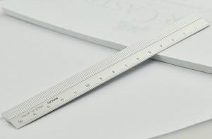 ミドリ MIDORI 定規 アルミ シルバー 15cm 42255006 ...