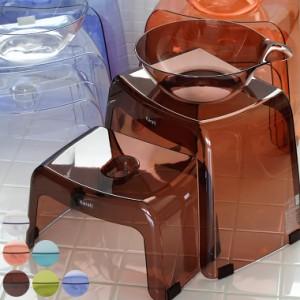 日本製 バスチェアー20H&30H・洗面器「カラリ karali」親子セット(3点)【バスチェア 湯桶 手桶 洗面器 風呂椅子】