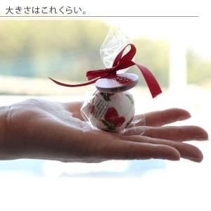 入浴剤「ミニバスボール」ストロベリーの香り(レッド)[02890]【バスボム バスフィズ 可愛い キュート ローズ バラ】