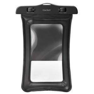☆ 各種スマートフォン対応 水に浮くウォータープルーフバッグ Lサイズ ブラック PG-WPBL01BK