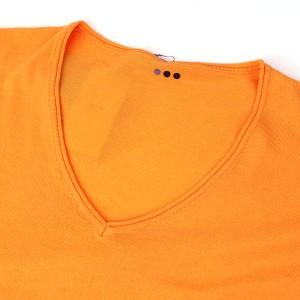 three dots(スリードッツ)コットン レーヨン 長袖 Vネック ワイド ニットプルオーバー・WM201Y-0441401【JP】