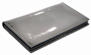 【財布】 ブルガリ レオーニ 2つ折長財布 キャンバス パテントレザー 黒 ブラック 茶 ダークブラウン 日本限定モデル