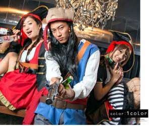 【コスプレ メンズ コスプレ】店内50%OFF〜開催中♪ 海賊 コスプレ メンズ ハロウィン 衣装 男性用 M〜Lサイズあり 7点セット