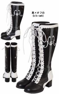 【ゴスロリ ロリィタ 靴】店内50%OFF〜開催中♪ ブーツ パンプス 靴 シューズ コスプレ 22.5〜26.0サイズあり 7色展開 s532