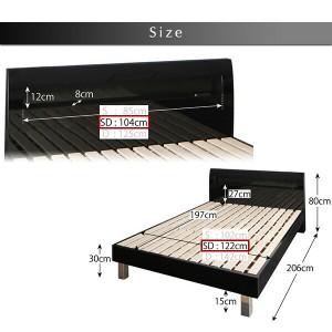頑丈デザイン棚・コンセント付すのこステーションベッド G-BED ジーベッド 羊毛入りデュラテクノマットレス付き セミダブル