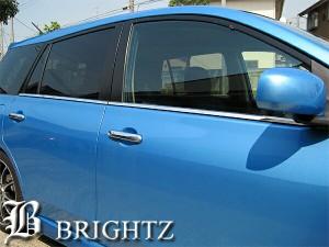 BRIGHTZ ウィングロードJY12NY12Y12超鏡面クロームメッキステンレス水切りウィンドウモールフレーム4PC