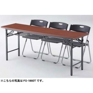 ▼【送料無料】折畳みテーブル FO-1860 チーク・ローズ【TD】
