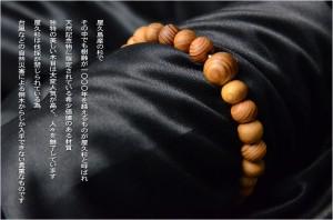 希少天然記念物・国産腕輪念珠【屋久杉共仕立数珠ブレスレット:小珠11mm】ネコポス送料無料