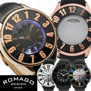 【ROMAGO/ロマゴ デザイン】 西内まりや着用モデル 腕時計 レディース メンズ ミラーウォッチ レザーベルト スイス 男女兼用 RM015-0162S