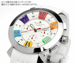 【Salvatore Marra/サルバトーレマーラ】  腕時計 メンズ クロノグラフ 立体インデックス 限定モデル ラバー SM14102 ウォッチ うでどけ