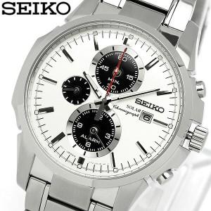 【送料無料】【セイコー】【腕時計】セイコー SEIKO 腕時計 メンズ 海外モデル クロノグラフ ソーラー アラー