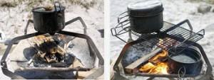 モノラル MONORAL 五徳アタッチメント |焚き火台|ファイヤーグリル|wireflame|ワイヤーフレーム|キャンプ|たき火|焚火|焚き火|たき火台|