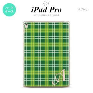 【iPad Pro】【スマホケース/スマホカバー】【アイパッド プロ】iPad Pro スマホケース カバー アイパッド プロ イニシャル チェックB 緑