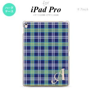 【iPad Pro】【スマホケース/スマホカバー】【アイパッド プロ】iPad Pro スマホケース カバー アイパッド プロ イニシャル チェックB 青