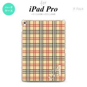【iPad Pro】【スマホケース/スマホカバー】【アイパッド プロ】iPad Pro スマホケース カバー アイパッド プロ イニシャル チェックB ベ