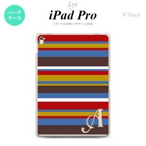 【iPad Pro】【スマホケース/スマホカバー】【アイパッド プロ】iPad Pro スマホケース カバー アイパッド プロ イニシャル ボーダー ブ