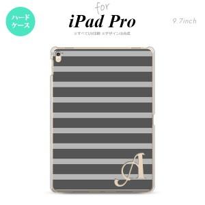 【iPad Pro】【スマホケース/スマホカバー】【アイパッド プロ】iPad Pro スマホケース カバー アイパッド プロ イニシャル ボーダー グ