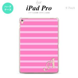 【iPad Pro】【スマホケース/スマホカバー】【アイパッド プロ】iPad Pro スマホケース カバー アイパッド プロ イニシャル ボーダー ピ