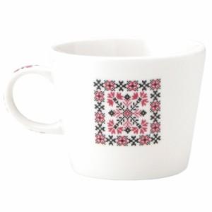 取寄品 イニシャル マグカップ&小皿 ギフトセット アルファベット プレート付マグカップ W 東欧風日本製 誕生日ギフト
