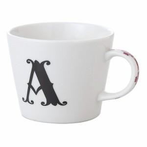 取寄品 イニシャル マグカップ &ミニタオル ギフトセット アルファベット ハンカチ付 マグカップ A 日本製お祝い 生活