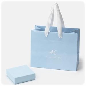 4℃ ヨンドシー 【9月誕生石】K10ピンクゴールドネックレス